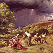 A Thunder Shower, 1859 Poster by James Thomas Linnell
