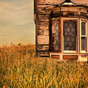 Abandoned House In Grass Poster by Jill Battaglia