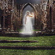 Abbey Ghost Poster by Amanda And Christopher Elwell
