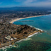 Above Santa Cruz California Looking East Poster by Randy Straka