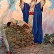 Abraham And Isaac On Mount Moriah Poster by William Henry Margetson