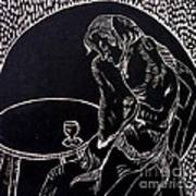 Absinthe Drinker After Picasso Poster by Caroline Street