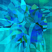 abstract - art- Blue for You Poster by Ann Powell