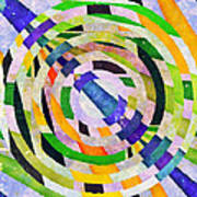 Abstract Circles Poster by Susan Leggett