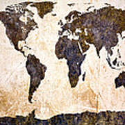 Abstract Earth Map Poster by Bob Orsillo
