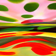 Abstract Landscape Of Happiness Poster by Amy Vangsgard