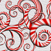 Abstract - Spirals - Peppermint Dreams Poster by Mike Savad