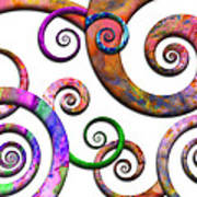 Abstract - Spirals - Planet X Poster by Mike Savad