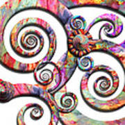 Abstract - Spirals - Wonderland Poster by Mike Savad
