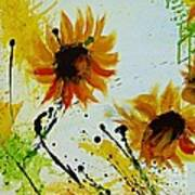 Abstract Sunflowers 2 Poster by Ismeta Gruenwald