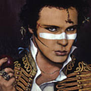 Adam Ant Poster by Jane Whiting Chrzanoska