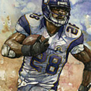 Adrian Peterson Poster by Michael  Pattison
