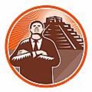 African American Businessman Protect Pyramid Poster by Aloysius Patrimonio