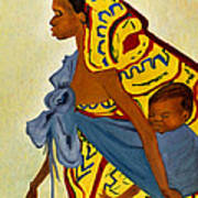 African Mother And Child Poster by Sher Nasser