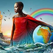 The Lupita Tsunami Poster by Anthony Mwangi