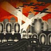 Air Raid Poster by Milton Thompson