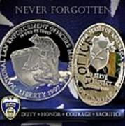 Akron Police Memorial Poster by Gary Yost