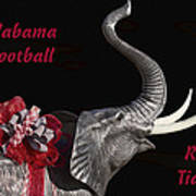 Alabama Football Roll Tide Poster by Kathy Clark