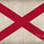 Alabama State Flag Poster by Pixel Chimp