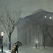 Albany In The Snow Poster by Walter Launt Palmer