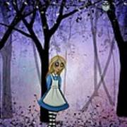 Alice In An Enchanted Forest Poster by Charlene Murray Zatloukal