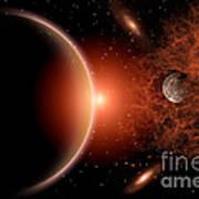 Alien Sunrise On A Distant Alien World Poster by Mark Stevenson