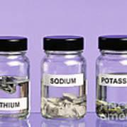 Alkali Metals In Jars Poster by Martyn F. Chillmaid