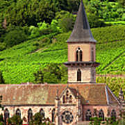 Alsace Church Poster by Brian Jannsen