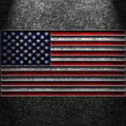 American Flag Stone Texture Poster by Brian Carson