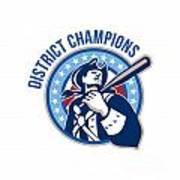 American Patriot Baseball District Champions Poster by Aloysius Patrimonio