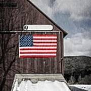 Americana Patriotic Barn Poster by Edward Fielding
