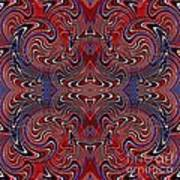 Americana Swirl Design 2 Poster by Sarah Loft