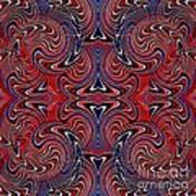 Americana Swirl Design 3 Poster by Sarah Loft
