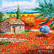 Among The Poppies Poster by Jean-Marc Janiaczyk