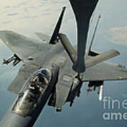An F-15e Strike Eagle Receives Fuel Poster by Stocktrek Images