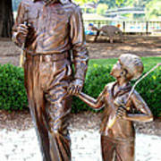 Andy And Opie Statue Nc Poster by Frank Savarese