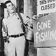 Andy Griffith In The Andy Griffith Show Poster by Silver Screen