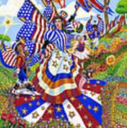 Angel Of American Patriotism Poster by Jacquelin Vanderwood