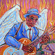 Angel Of The Blues Poster by Robert Ponzio