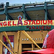 Angel Stadium Poster by Ricky Barnard