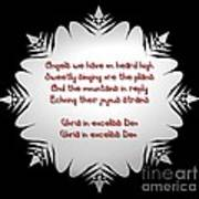 Angels We Have Heard On High Snowflake Poster by Rose Santuci-Sofranko