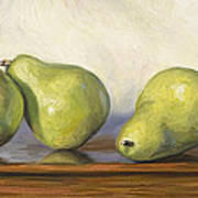 Anjou Pears Poster by Lucie Bilodeau