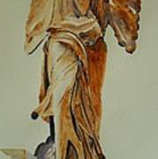 Another Perspective Of The Winged Lady Of Samothrace  Poster by Geeta Biswas