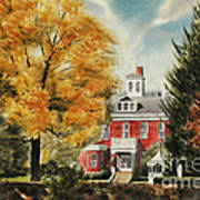 Antebellum Autumn Ironton Missouri Poster by Kip DeVore