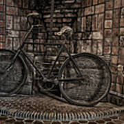 Antique Bicycle Poster by Susan Candelario