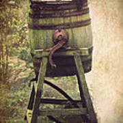 Antique Butter Churn Poster by Linsey Williams