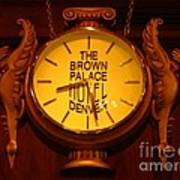 Antique Clock At The Bown Palace Hotel Poster by John Malone