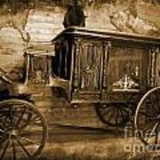 Antique Hearse As Tintype Poster by Crystal Loppie