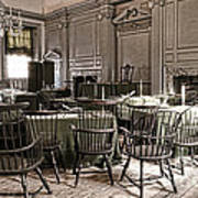 Antique Independence Hall Poster by Olivier Le Queinec