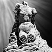 Aphrodite Of Milos Styled Sand Castle Poster by Tom Gari Gallery-Three-Photography